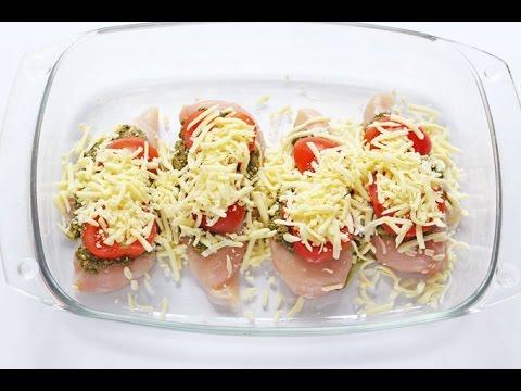 MOZZARELLA TOMATO & BASIL PESTO CHICKEN RECIPE