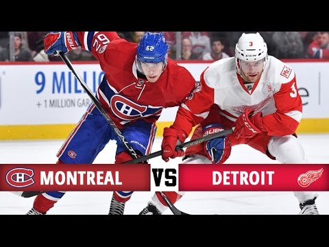 Montreal Canadiens vs Detroit Red Wings | Season Game 73 | Highlights (21/3/17)
