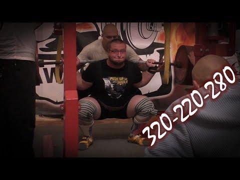 Руслан Фурсов - выступление в троеборье (320-220-280) - DomaVideo.Ru