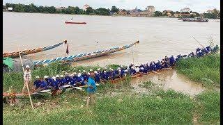 Download Lagu Water Festival In Cambodia 2017 | Boat prepare Racing on Tunle Basac River in Takmao Mp3