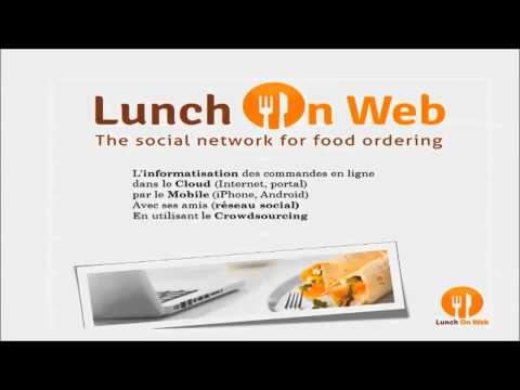 THE LUNCH ON WEB CONCEPT. Tudor Ivanov at Salon Digiwal, Aula Magna, Louvain-La-Neuve in Belgium