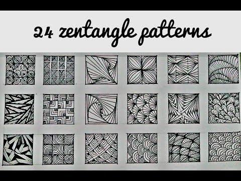 24 zentangle patterns    24 Doodle Patterns, Zentangle Patterns, Mandala Patterns part - 1