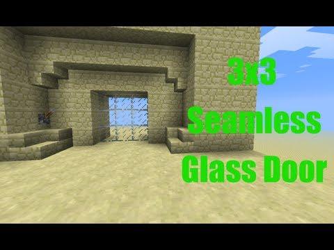 Minecraft Piston Door 3x3 3x3 Seamless Glass Piston Door