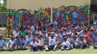 Alex Mijares x BLUE Missions 2015: Mural in Tres Ceibas, Dominican Republic
