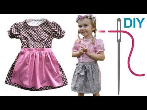 Dirndl / Trachtenkleid / Kleid mit Schürze selber nähen – Schnittmuster Kinderdirndl von Zierstoff