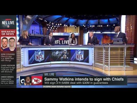 Sammy Watking Intends To Sign With Chiefs | NFL Live | Mar 13, 2018