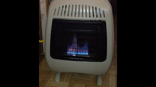 My Portable Heater 10,000 BTU. Easy to attach heater for my 22FT A class RV.
