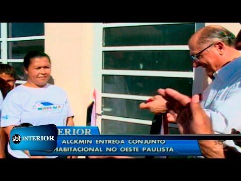 Governador Geraldo Alckmin entrega casas em Flora Rica