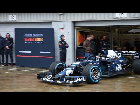 Red Bull's 2018 Contender Hits The Track At Silverstone