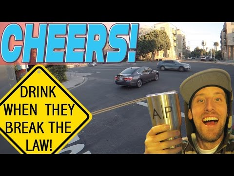 Drunk guy live commentates horrible intersection