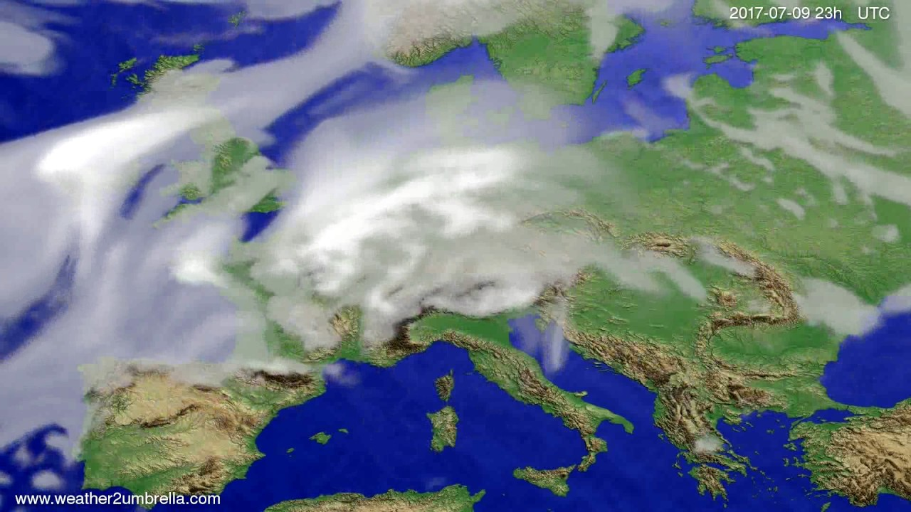 Cloud forecast Europe 2017-07-06