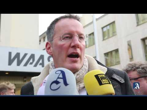 Mainz: Mainzelmännchen regeln den Verkehr (erste Ampel)