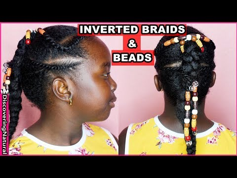 Braid hairstyles - Kids Natural Hairstyles: Inverted Braid, Flat Twists w/ Beads  DiscoveringNatural