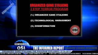 The Informer Report 10-28-2012 Organized Gang Stalking The Program Explained Part 1