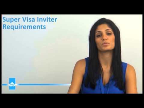 Super Visa Inviter Requirements Video