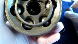7. Removing Ball Bearings  from CV shaft  outer end