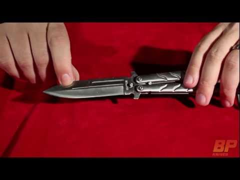 Silver Twist II Balisong Butterfly Knife - Satin Plain