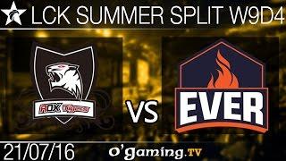 ESC Ever vs Rox Tigers - LCK Summer Split 2016 - W9D4