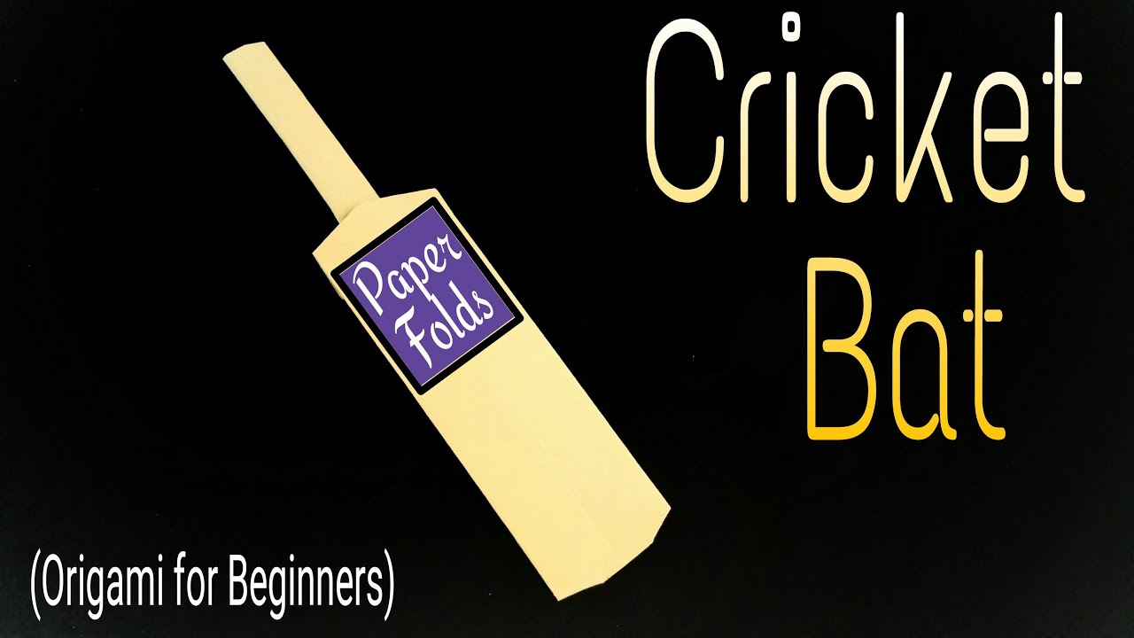 Origami for beginners origami arts and for Arts and crafts cricket