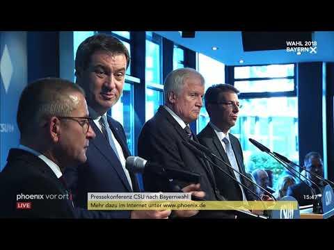 Pressekonferenz der CSU zum Ergebnis der Landtagswa ...