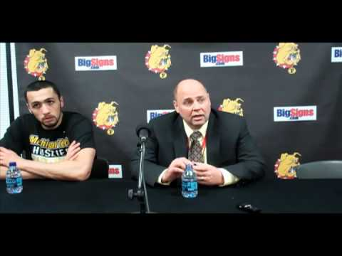 FSU vs. MTU: Huskies Head Coach Luke and Forward Haidar Press Conference