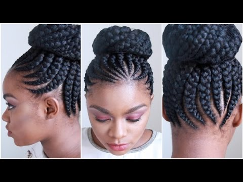 JUMBO CORNROWS | WATCH ME GET MY HAIR DONE