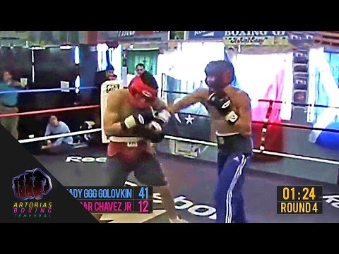 Gennady GGG Golovkin vs Julio Cesar Chavez Jr (Sparring Session Enhanced Footage + Punch Count) (видео)