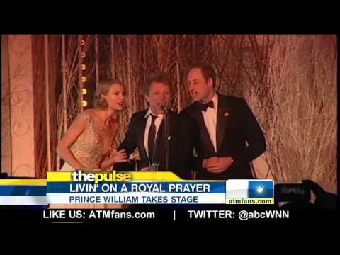Bon Jovi, Taylor Swift, and Prince William Sing 'Living On A Prayer'
