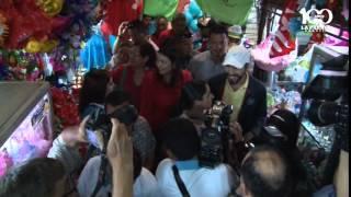 Nayib Bukele recorrió el mercado San Miguelito