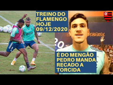 TREINO DO FLAMENGO HOJE - 09/12/2020 - PEDRO MANDA RECADO A TORCIDA DO FLAMENGO