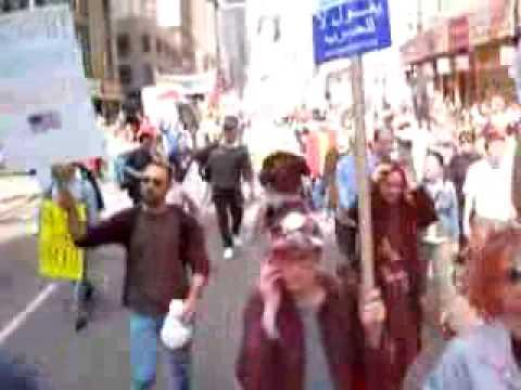 March 22nd 2003 - NYC rally 'IMPEACH BUSH'