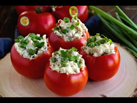 Bacon Ranch Chicken Salad Stuffed Tomatoes Recipe