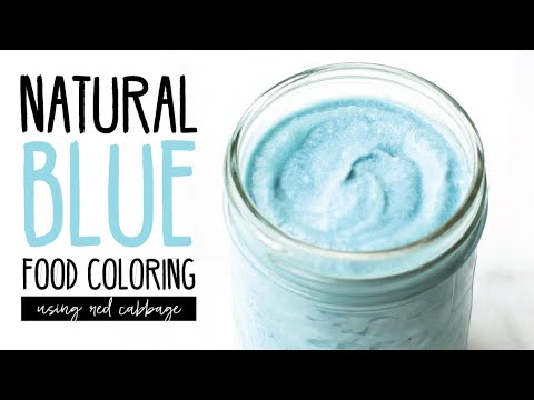 How To: Natural Blue Food Coloring with Red Cabbage