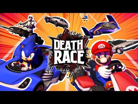 Sonic VS Mario VS Star Wars VS Initial D | DEATH RACE!