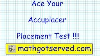 Accuplacer Arithmetic pt I Testprep Exam Practice Math Placeme...