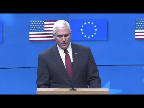 Μάικ Πενς: Ισχυρή δέσμευση των ΗΠΑ να συνεχίσουν τη συνεργασία με την Ε.Ε.