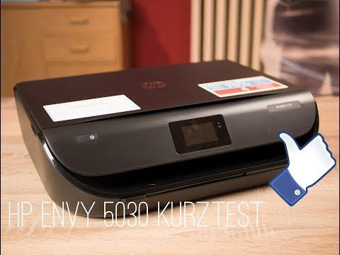 Unboxing/Wlan-Einrichtung HP Envy 5030 Wifi Drucker Kurztest (german)