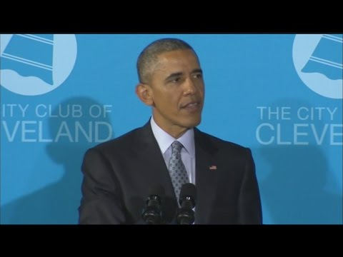 President Obama speaks at City Club of Cleveland Part 3