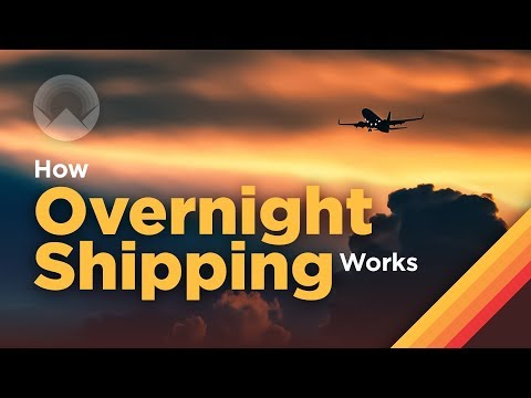 How overnight shipping works (2018)