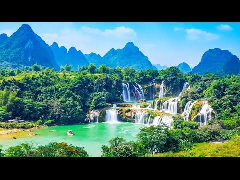 Magnifiques paysages vus par drone, voyage aérien & nature, musique relaxante/relaxation, zen, drone