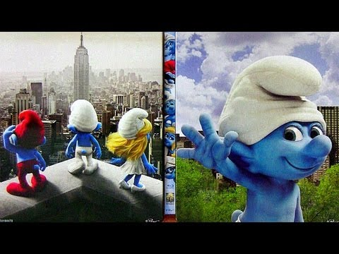 The Smurfs STEELBOOK blu ray unboxing with Christmas Carol dvd from Futureshop