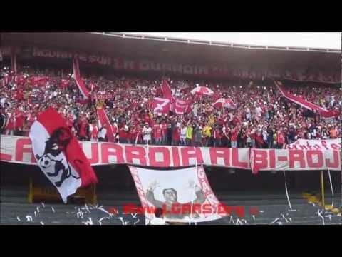 LA GUARDIA PTE - CLÁSICO 270 IND. SANTA FE VS millonarios - Liga Postobón 2013 - La Guardia Albi Roja Sur - Independiente Santa Fe
