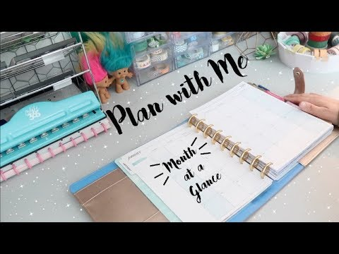 PLAN WITH ME | MONTH AT A GLANCE | HAPPY PLANNER | JANUARY  2019!!!