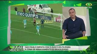O comentarista não poupa críticas ao São Paulo e ainda diz que esse empate diante do Avaí é um péssimo resultado.