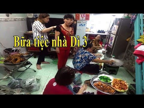 Bất ngờ với Bữa tiệc thình soạn Dì 3 tự tay vào bếp nấu mời Dì 7 và các Youtuber - Thời lượng: 34:09.