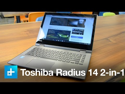 , title : 'Toshiba Radius 14 2-in-1 laptop: Hands-on review'