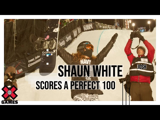 SHAUN WHITE&#39;S PERFECT SUPERPIPE RUN