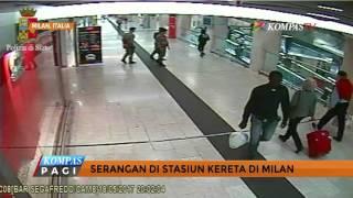 Video Pria Misterius Tikam Perwira Militer di Stasiun Milan MP3, 3GP, MP4, WEBM, AVI, FLV Januari 2018