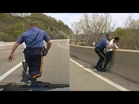 Watch: Officer Saves Suicidal Man As He Attempts To Jump Over a New Jersey Bridge