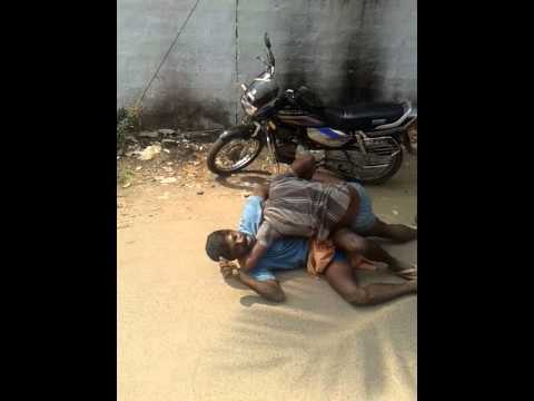 Funny Village Guys  Fighting On Road